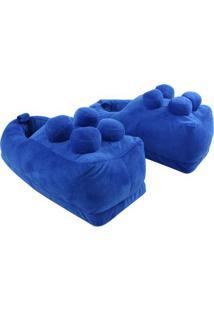 Pantufa Lego Azul - Zona Criativa