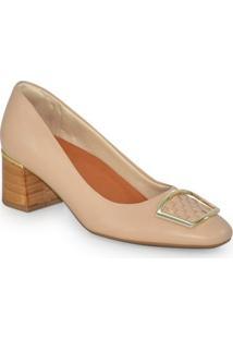 5c57170a4 Fort Calçados. Sapato Salto Médio Usaflex Soft Slim Blush ...