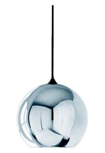 Luminária Globo Em Vidro Cromado - Unissex