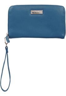 Luiza Barcelos Carteira Com Zíper - Azul