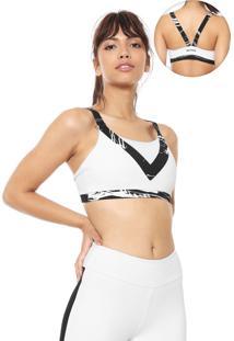 Top Body For Sure Recortes Branco/Preto