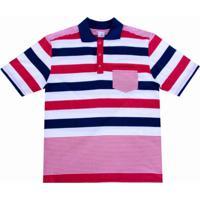 134d098207 Camisa Pólo Curta Listras masculina