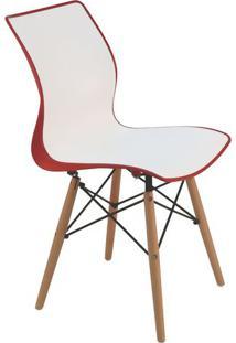 Cadeira Maja- Branca & Vermelho Escuro- 84,5X52X43Cmtramontina