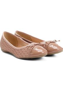 Sapatilha Shoestock Tecido Monograma - Feminino-Bege