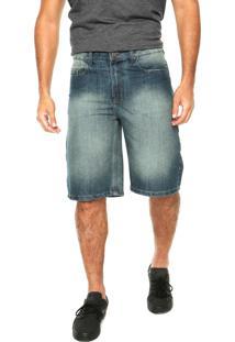 Bermuda Jeans Volcom Black Zip Azul