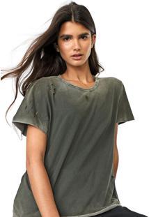 Camiseta Cavalera Puídos Verde