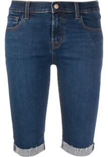 J Brand Bermuda Jeans - Azul