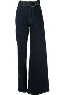Kseniaschnaider Calça Jeans Assimétrica - Azul