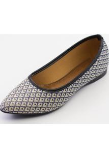 Sapatilha Btr Fashion Étnico Azul/Preto - Kanui