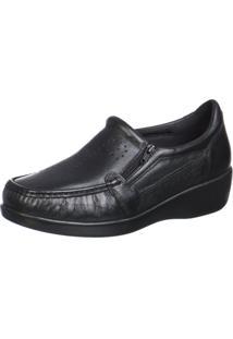 Sapato Doctor Pé Conforto Em Couro Preto 6868 Preto - Kanui