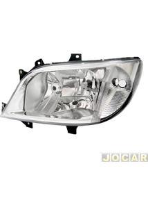 Farol - Importado - Sprinter 2003 Até 2012 - Cdi - Liso Sem Milha - Lado Do Motorista - Cada (Unidade) - Zn3131006