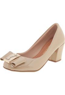 Scarpin Dafiti Shoes Laço Bege