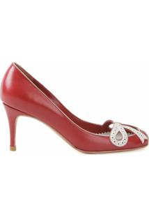 Sarah Chofakian Sapato De Couro - Vermelho