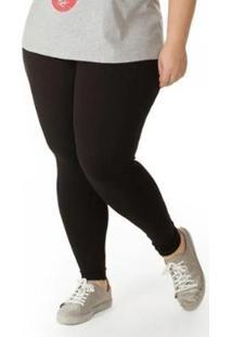 Çalça Legging Plus Size Feminina - Feminino-Preto