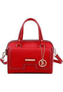 Bolsa Ba㺠Com Bag Charm- Vermelha & Dourada- 18X26X1Fellipe Krein