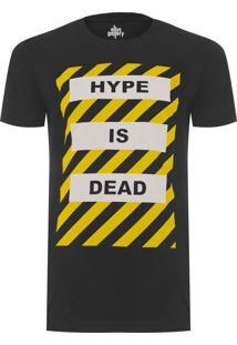 Camiseta Masculina Hype Is Dead - Preto