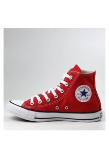 Tênis Feminino Converse All Star Chuck Taylor Cano Alto Converse Vermelho