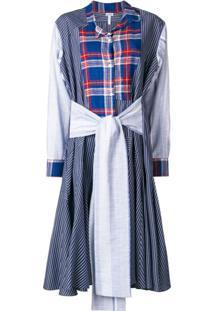 Loewe Vestido Com Patchwork - Azul