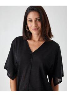 Blusa Claudia Feminina - Feminino-Preto
