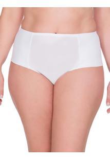 Calcinha Lateral Dupla Plus Size - Branco - 1Xl