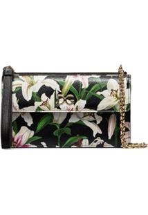 Dolce & Gabbana Bolsa Tiracolo Com Estampa Floral - Hnkk8 Gigli Fdo.Nero