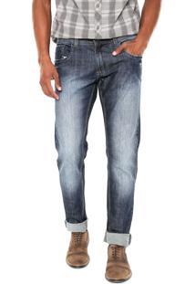 Calça Jeans Sawary Slim Estonada Azul