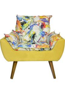 Poltrona Decorativa Kasa Sofá Opala Color Amarelo
