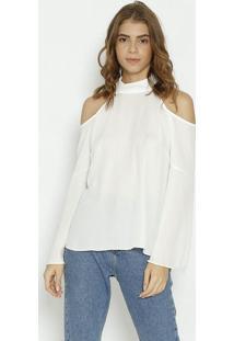 Blusa Com Recortes Vazados - Off Whitemoiselle