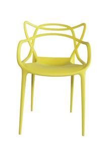 Cadeira Decorativa Para Sala De Jantar Amsterdam F01 Amarela - Mpozena