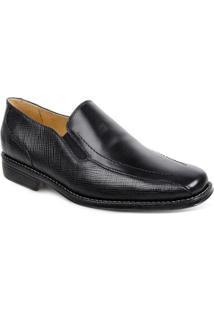Sapato Social Couro Sandro Moscoloni Allan Masculino - Masculino-Preto