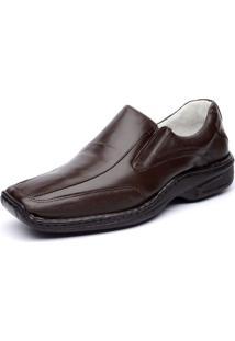 Sapato Ranster Confortável Pele Carneiro Marrom