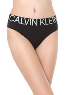 Calcinha Calvin Klein Underwear Tanga Statement Preta