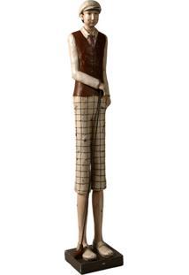 Escultura Decorativa De Resina Jogador De Golf I