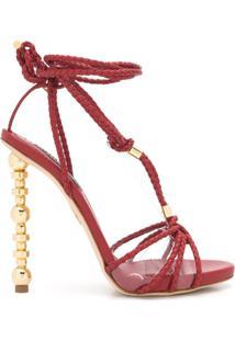 Dsquared2 Sandália De Tiras Com Salto Alto - Vermelho