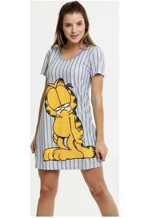 Camisola Feminina Estampa Garfield Manga Curta
