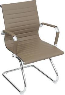 Cadeira Office Eames Esteirinha- Fendi & Prateada- 5Or Design