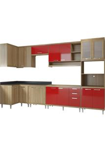 Cozinha Compacta Multimóveis Sicília 5830.132.815.694.610 Argila Vermelho Se