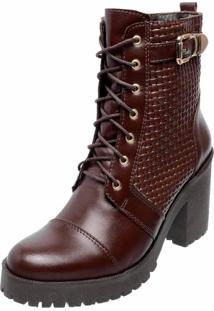 Bota Tratorada Biker Dr Shoes Marrom