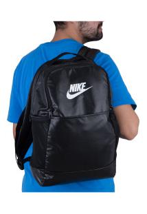 Mochila Nike Brasilia M 9.0 Mtrl - 24 Litros - Preto/Branco