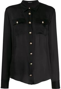 Balmain Button-Down Tailored Blouse - Preto