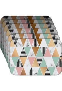 Jogo Americano - Love Decor Marble Triangle Kit Com 6 Peças.