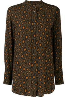 Aspesi Blusa Com Estampa Leopardo - Verde