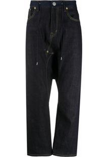 Fumito Ganryu Drawstring Waist Jeans - Azul