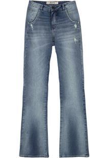 dc65d8e4f Hering. Calça Jeans Feminina Boot Cut Em Algodão Eco Edition