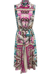 Vestido Xiemg Pink Paaj Trong - Rosa E Bege