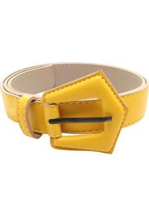 Cinto Birô Básico Color Feminino - Feminino-Amarelo