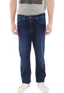 Calça Jeans Calvin Klein Jeans Reta Relaxed Azul