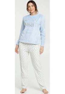Pijama Feminino Pelúcia Bordado Marisa