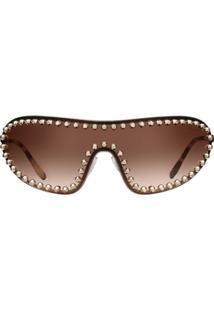 Prada Eyewear Óculos De Sol Prada Eyewear Collection - Marrom