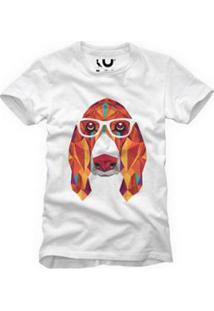 Camiseta Reserva Basset Geométrico Masculina - Masculino-Branco